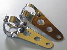 Headlight BRACKETS ears chrome Cafe Racer 26-35mm forks bracket set Triumph BSA