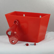 Starr Standard Red Combo Wall Mount Bottle Opener and Red Plastic Cap Catcher