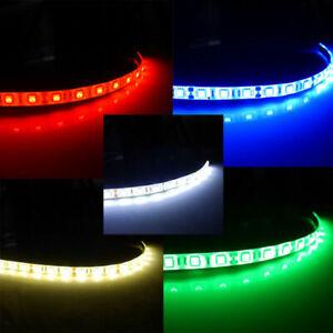 12V 10cm 30cm 5050 LED Strip Light Car Caravan White Blue Red Green Warm White