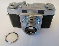 Vintage Olympus 35-S Rangefinder 35mm Film Camera. E. Zuiko 4,8cm f/2.8 lens
