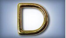 "10ea 1"" Solid Brass D-Rings 452B"
