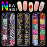 3D Nail Art Glitters Beads Sequins Decoration  Acrylic Tips Rhinestones Manicure