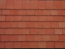 50 Real Brick 1:12th Victorian Red Miniature Roof Tiles for Dollshouses