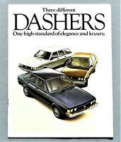 "ORIGINAL 1978 VOLKSWAGEN DASHER PRESTIGE BROCHURE ~ 18 PAGES ~ 8.5"" X 11"" ~78VWD"