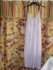 Vintage womens lingere nightgown lavender nightie gown romantic retro chic