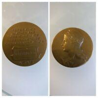 Médaille bronze ancienne 1948 fédération nationale des syndicats des industries