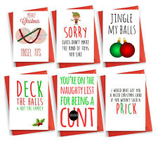 Funny RUDE Christmas card cheeky witty humour banter brother friend mum dad