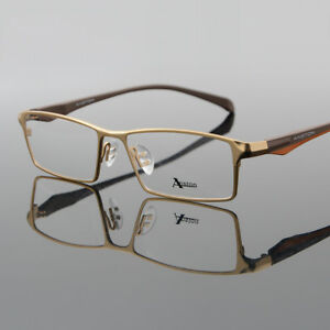 Fashion Men's Full Rim Reading Glasses Readers +0.00 ~+5.00 Eyewear Metal&TR