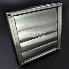 """Stainless Steel Square Air Vent Grill 150 mm 6"""" - Extractor - Wall Vent Gravity"""