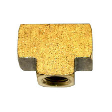 Brass Tee 1/8 Inch NPT Female - 2 Outlets 1000 PSI - FP22T