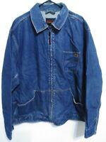 Riggs Workwear by Wrangler Mens Size XXL Dark Wash Full Zip Denim Jean Jacket