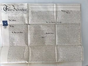 1874 Historical Document on TWO Parchments