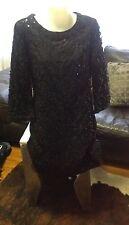 TORY BURCH PAULETTE SEQUIN TUNIC DRESS USA 6 (aust 10-12) BRAND NEW