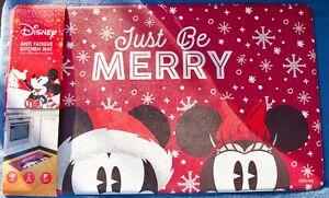 "Disney Mickey & Minnie Just Be Merry Anti Fatigue Non-Slip Kitchen Mat 18""X30"""