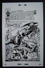"Large Production Art DAREDEVIL #23 cover, GENE COLAN art, 11""x17"""