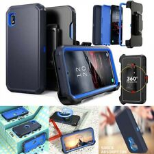 For iPhone LG Armor Phone Case+Belt Clip Fits Otterbox Defender+Tempered Glass