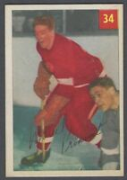 1954-55 Parkhurst Detroit Red Wings Hockey Card #34 Marcel Pronovost