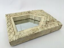 1850'S Vintage Hand Carved Wooden Engraved & Mirror Wall Frame / Temple