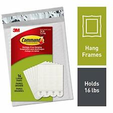 Command Picture Hanging Strips Heavy Duty Large White Holds 16 lbs 14 Pairs