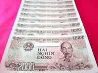 Vietnam Paper Money 25 PCS 2000 Vietnamese Dong Each Viet Nam Currency