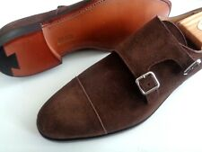NIB CROCKETT AND JONES PEAL & CO SUEDE SHOES. HAND MADE IN ENGLAND. TAG $700.00