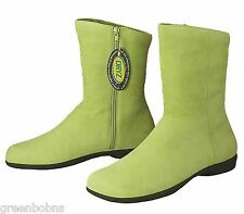 Dexter Estate Ladies Lime Green Suede Kidskin Ankle Boots  Size 7.5 M