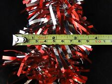 9 Feet Christmas Tree Garland Tinsel Red And Silver With Snowflakes