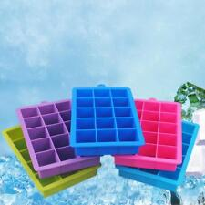 Reusable 15-Cavity Drink Ice Cube Pudding Jelly Maker Mold Tray Silicone Mould