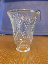 "1 Single Clear Glass Diamond Pattern Globes Shade/Scones 4-1/4"" Tall/2"" Diameter"
