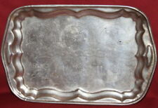 Vintage Engraved Metal Serving Tray