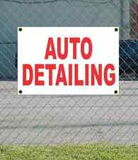 2x3 AUTO DETAILING Red & White Banner Sign NEW Discount Size & Price FREE SHIP