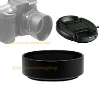 "62mm Metal Screw-in Hood + Front Cap for Standard Lens ""US seller"""