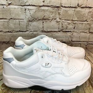 Propet FTS Stability Walker Men's Wide Fit White Comfort Sneakers Size 10.5 E