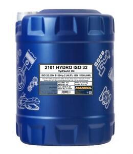 Mannol 10L ISO 32 Hydraulic Oil High Grade Shell Tellus 27 DIN 51524 part 2