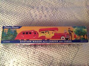 Deluxe Plastic Station Wagon with Camper & canoe DIMESTORE DREAMS (2000) NEW