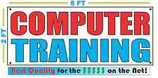 COMPUTER TRAINING Banner Sign NEW Larger Size Best Quality for the $$$