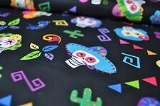 SKULLS BAUMWOLLE 50cm x 1,45m Kinder Stoff ROCKABILLY ROCKABELLA FIESTA MEXIKO C