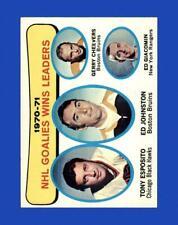 New listing 1971-72 Topps Set Break # 4 Goalie Wins EX-EXMINT *GMCARDS*