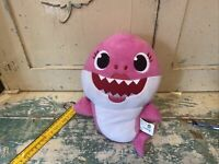 "Official Pinkfong MOMMY SHARK 18"" Singing Plush Baby Pink Stuffed Animal WowWee"