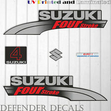 Suzuki  4HP Four Stroke outboard engine decal sticker set kit reproduction 4 HP