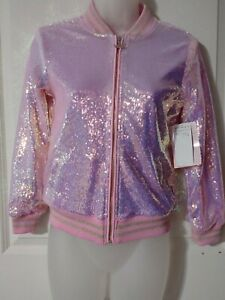Pink Sequin Bomber Jacket Size girls Disney princess Size 4