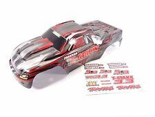 NEW TRAXXAS T-MAXX 3.3 4907 EXTENDED CHASSIS BLACK BODY WITH DECAL SHEET
