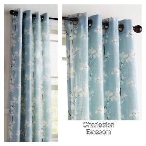 """Pier 1 Imports Grommet Charleston Blossom Curtain Panel (1) 50""""x108"""" New Floral"""