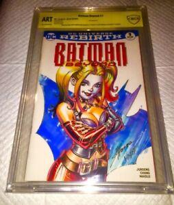 BATMAN #1 9.8 SS OA SS ORIGINAL ART  1OF1 HARLEY QUINN SCOTT HANNA & JOSE VARESE