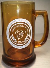 Vintage 1977 SEARS ROEBUCK SYMBOL OF EXCELLENCE GLASS BEER MUG GR MANUFACTURING