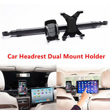 2in1 Car Back Seat Dual Mount Holder Tablet Mobile Phone Stand Ipad Adjustable