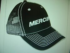 "MERCURY OUTBOARDS PARTS ""NEW"" BLACK WITH MESH * ""CAP HAT"""