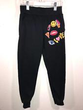 Bobbie Brooks for Girls Black Love Embellished Sweatpants Size M (7/8)