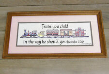 "22"" FRAMED ART Choo Choo TRAIN UP A CHILD In The Way He Should Go Proverbs 22:6"