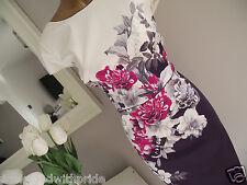 MONSOON RHONDA ROSE IVORY PINK PURPLE FLORAL SHIFT DRESS WEDDING + FASCINATOR 10